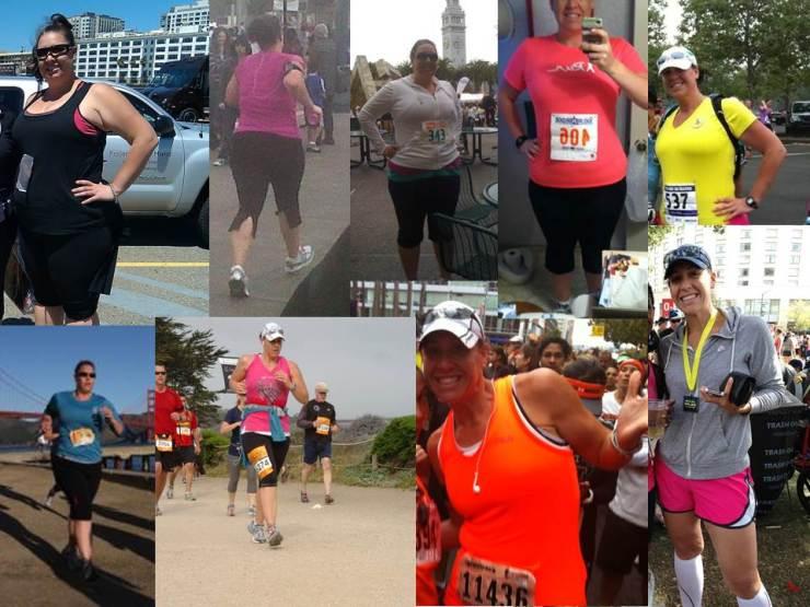 #TransformationTuesday--My First 5K to my 7th Half Marathon!