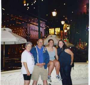 My family in the early 2000s in Las Vegas.  One of the last family vacations we took together before my Dad had his stroke and then my Mom was diagnosed with cancer--she may have already been sick there, we'll never know.