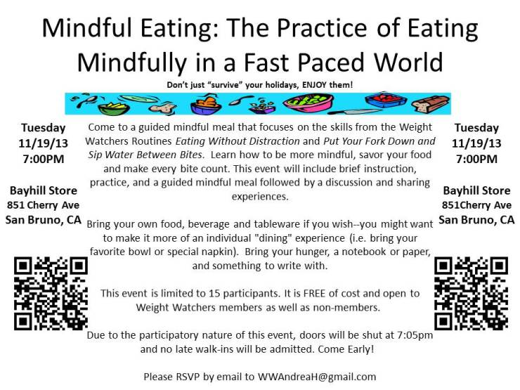 Mindful Eating Workshop 11.19.13