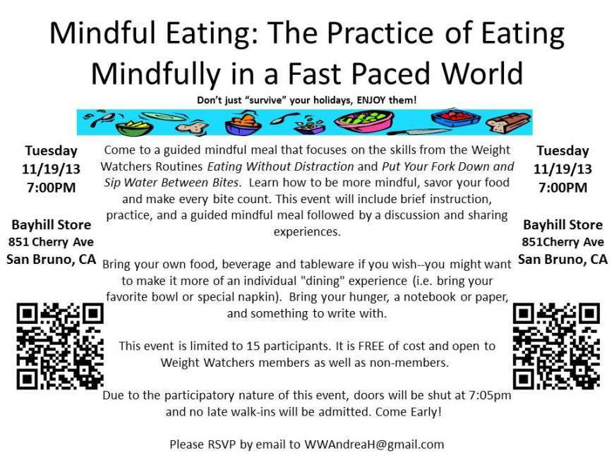 Mindful Eating Workshop 11.19.13